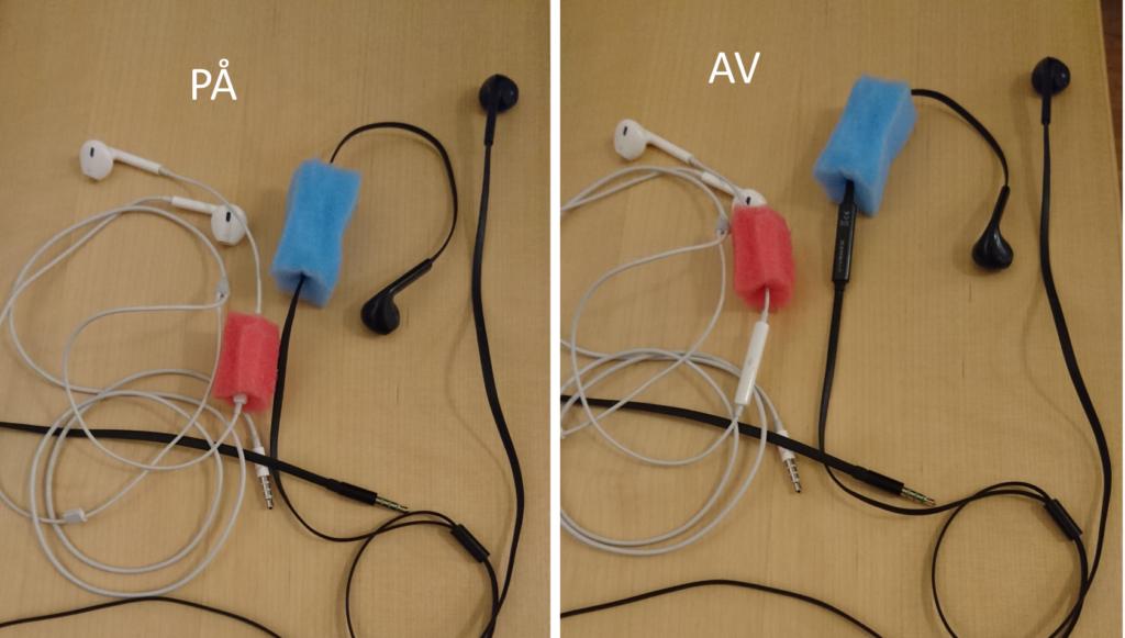 exempelbild mikrofonskydd typ 3, av och på